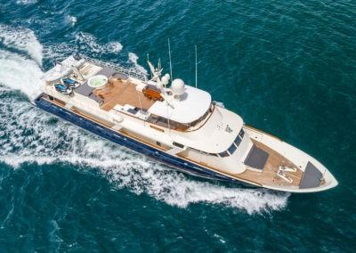 ARIADNE yacht charter Aerial Profile