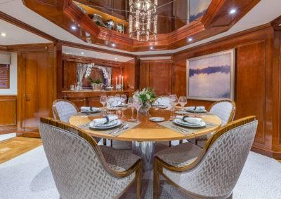 ARIADNE charter yacht Dining
