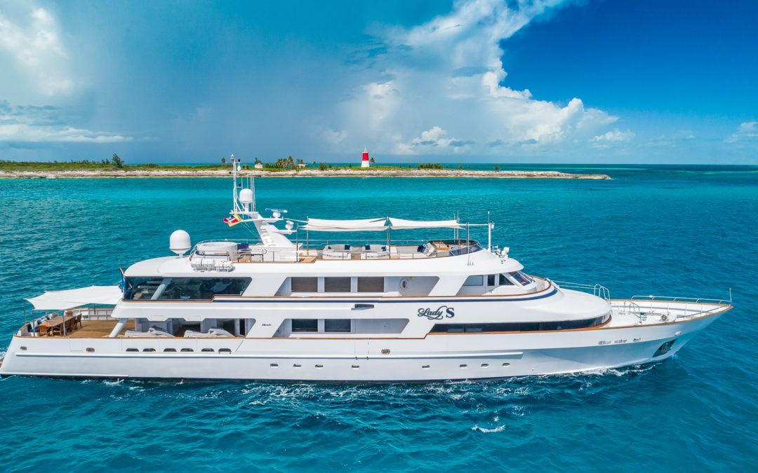 151′ Benetti LADY S on Display at Antigua Charter Yacht Show
