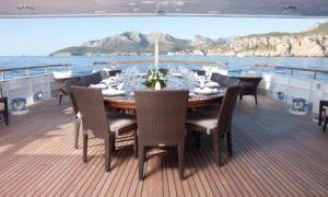 Feadship Mirage Aft Deck Dining