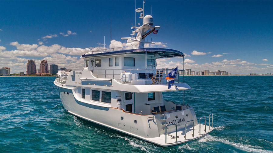 63-Nordhavn-Asturias-luxury-yacht-charter-side-profile