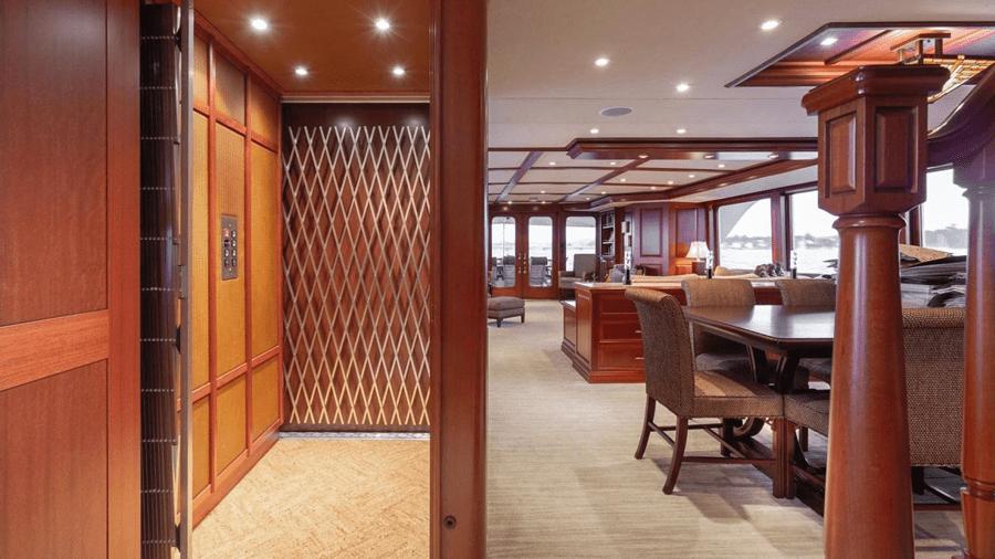 Impetuous-Luxury-Charter-Yacht-main-deck-salon-elevator