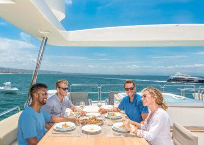 105-Azimut-Amanecer-luxury-yacht-charter-flybridge-dining