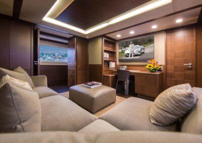 105-Azimut-Amanecer-luxury-yacht-charter-media-room-1